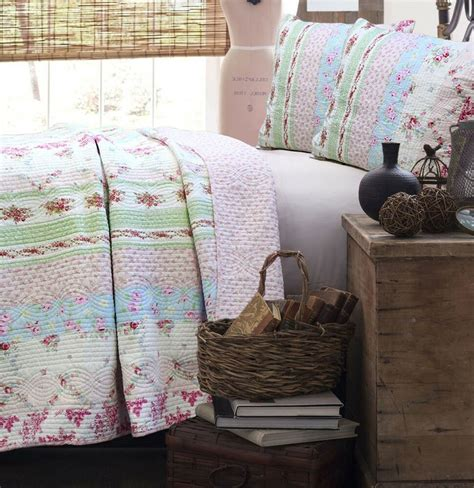 Coverlets Quilts by Pink Quilt Set Shabby Floral Chic