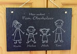 Türschild Familie Holz : t rschild aus schiefer mit gravur familie mit ~ Lizthompson.info Haus und Dekorationen