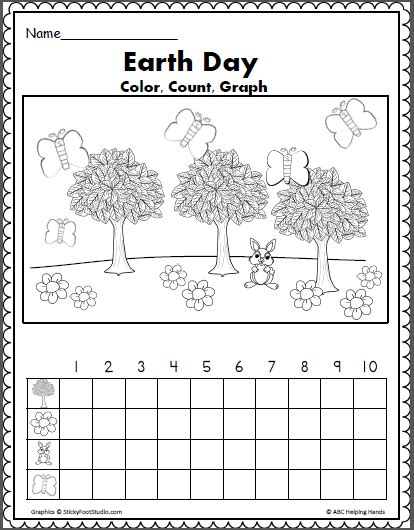 earth day math color count and graph ideas 337 | 728762a125f06f89882e418b52c3b209