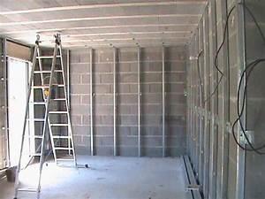 Poser Placo Mur Avec Rail : pose des rails pour l 39 isolation le plafond et les cloisons le blog de lionel et mady ~ Melissatoandfro.com Idées de Décoration