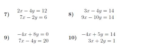 simultaneous equations elimination worksheet with