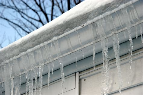 de ice  gutters  downspouts