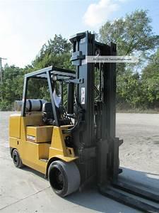 2003 Cat Gc55k Propane Forklift Lift Truck Fork