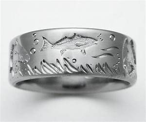 mens wedding bands fishing mini bridal With mens fishing wedding rings