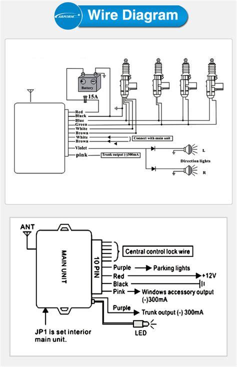 car central locking system car door lock actuator remote for car door lock dc 12v power