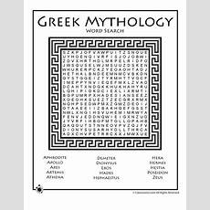 Greek Mythology Word Search  Woo! Jr Kids Activities