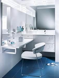 creer une coiffeuse en prolongeant le meuble vasque With coiffeuse salle de bain