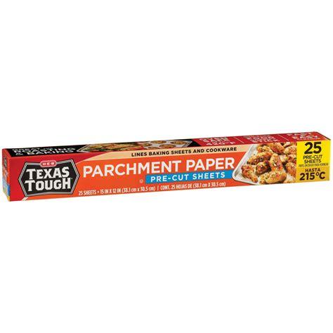 parchment tough sheets texas cut pre paper