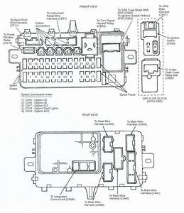 95 Civic Fuse Panel Diagram