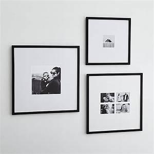 Matte Black Wall Frames Crate and Barrel