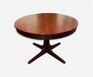 Table Ronde Scandinave Extensible : table ronde extensible vintage design scandinave bois ~ Melissatoandfro.com Idées de Décoration
