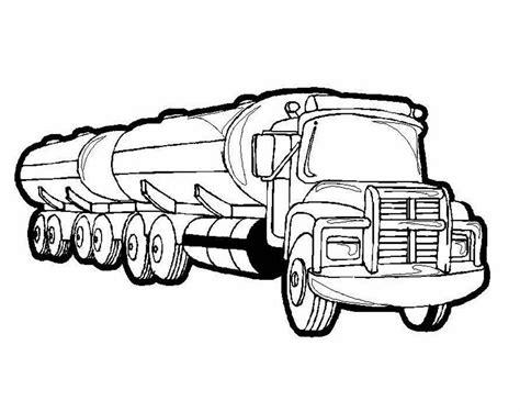 gambar gambar mobil truk derek mo mewarnai tangki di