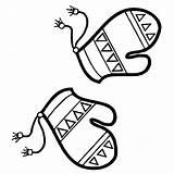 Mitten Coloring Pages Mittens Warm Getcoloringpages sketch template