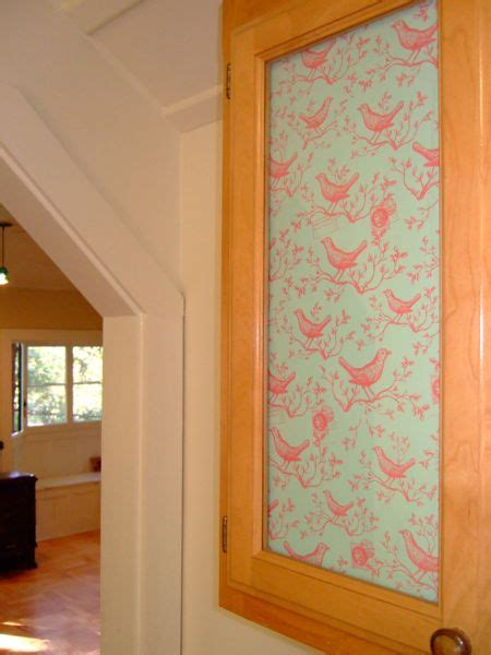 add decorative paper  glass doors