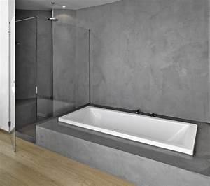 beautiful beton cire salle de bain sur faience 2 photos With beton cire dans une salle de bain
