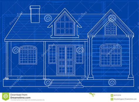 blueprint  building stock vector illustration