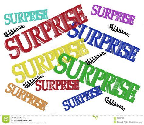 Surprise Party Birthday Invitation Stock Illustration