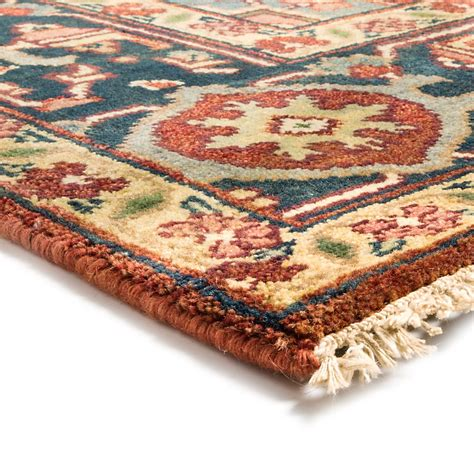 knotted wool rugs hri serapi knotted wool pile area rug 6x9