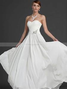 strapless scalloped bodice a line chiffon wedding gown With a line wedding dress