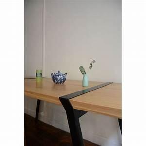 Pied De Table Metal Design : pi02 treteaux acier pied metal brut noir ou blanc pour ~ Melissatoandfro.com Idées de Décoration