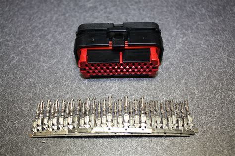 microsquirt ecu tcu connector with pins for wiring harness projects standalone ebay