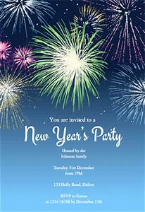 New years party fireworks free printable new year for New year invite templates free