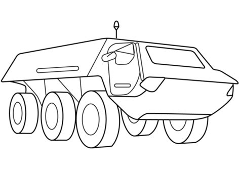 Armored Security Vehicle coloring page Free Printable