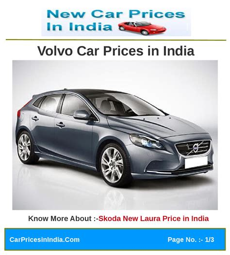Volvo Cars Prices by Volvo Car Prices In India By Microsite Team Issuu