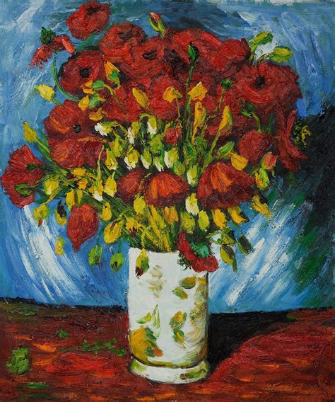 Vase With Poppies Vincent Gogh by Vase With Poppies 1886 We Still Vincent