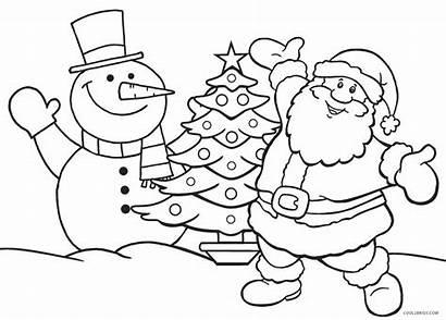 Coloring Pages Santa Christmas Printable Sheets Holiday