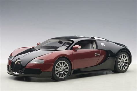 The roadster version of the veyron 16.4 super sport. Bugatti EB 16.4 Veyron Production Car Black Red Beige Interior 1/18 Scale Diecast Car Model By ...