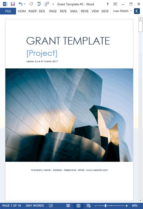 grant proposal template ms wordexcel templates forms checklists  ms office  apple iwork