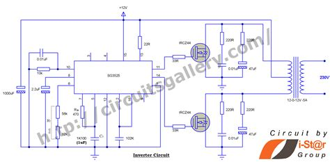 220v Schematic Wiring Diagram by 12v To 230v Inverter Circuit Schematic Using Pulse Width