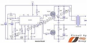12v To 230v Inverter Circuit Schematic Using Pulse Width Modulator Ic Sg3525
