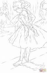 Degas Coloring Edgar Studio Dance Supercoloring Printable Enregistrée Depuis sketch template