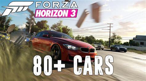forza horizon 3 car list so far