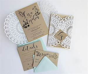 rustic laser cut wedding invitation with bespoke monogram With bespoke rustic wedding invitations