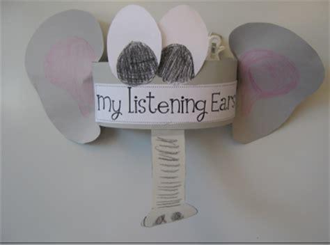 listening ears template   clip art