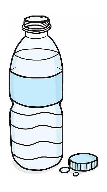 Plastic Bottles Water Clipart Drawing Bottle Clip