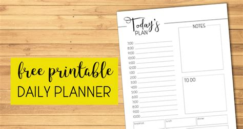 printable daily planner template paper trail design