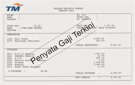 Contoh Slip Gaji Bekerja Sendiri Malaysia Aerotoh