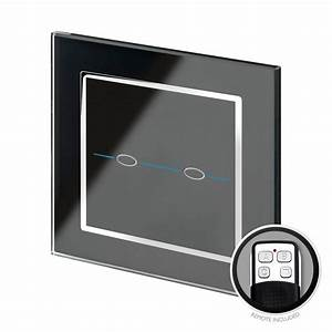 Led Touch Dimmer : crystal ct led dimmer touch remote light switch 2 gang black glass led compatible ~ Frokenaadalensverden.com Haus und Dekorationen