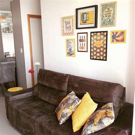 sala sofa marrom e parede cinza resultado de imagem para decora 231 227 o sof 225 marrom minha
