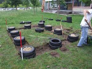 alternatives aux fondations en beton de ciment ecologie With maison bois sur plots 0 fondation pneu homedepaille