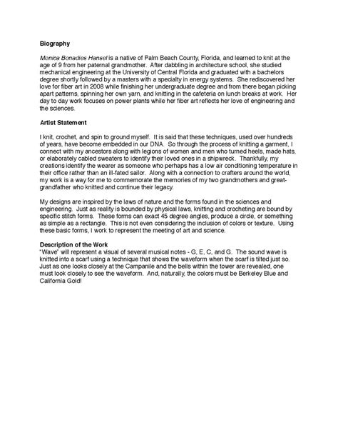 artists statement wikipedia
