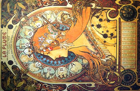 alphonse mucha zodiac mixed emotions fine art
