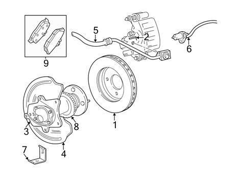 Ford Mustang Abs Sensor Wheel Speed Incl