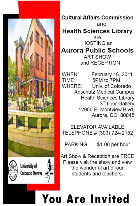 aps art show anschutz health sciences library aurora public schools