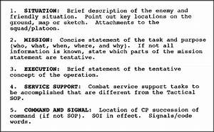 In0541 edition c lesson 1 operation warning and for Usmc warning order template