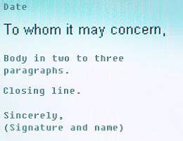 concern letter sample education